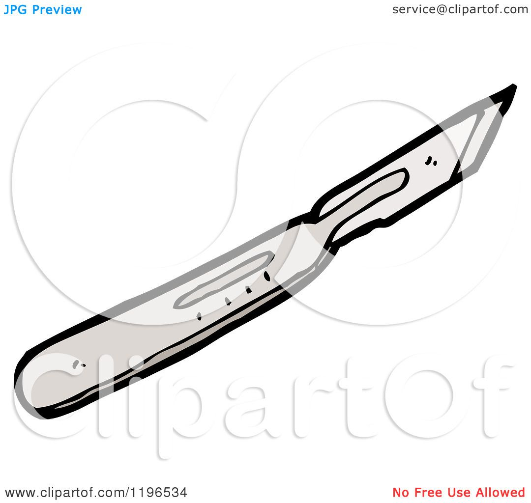 Cartoon of an Exacto Knife - Royalty Free Vector Illustration by    Exacto Knife Illustration