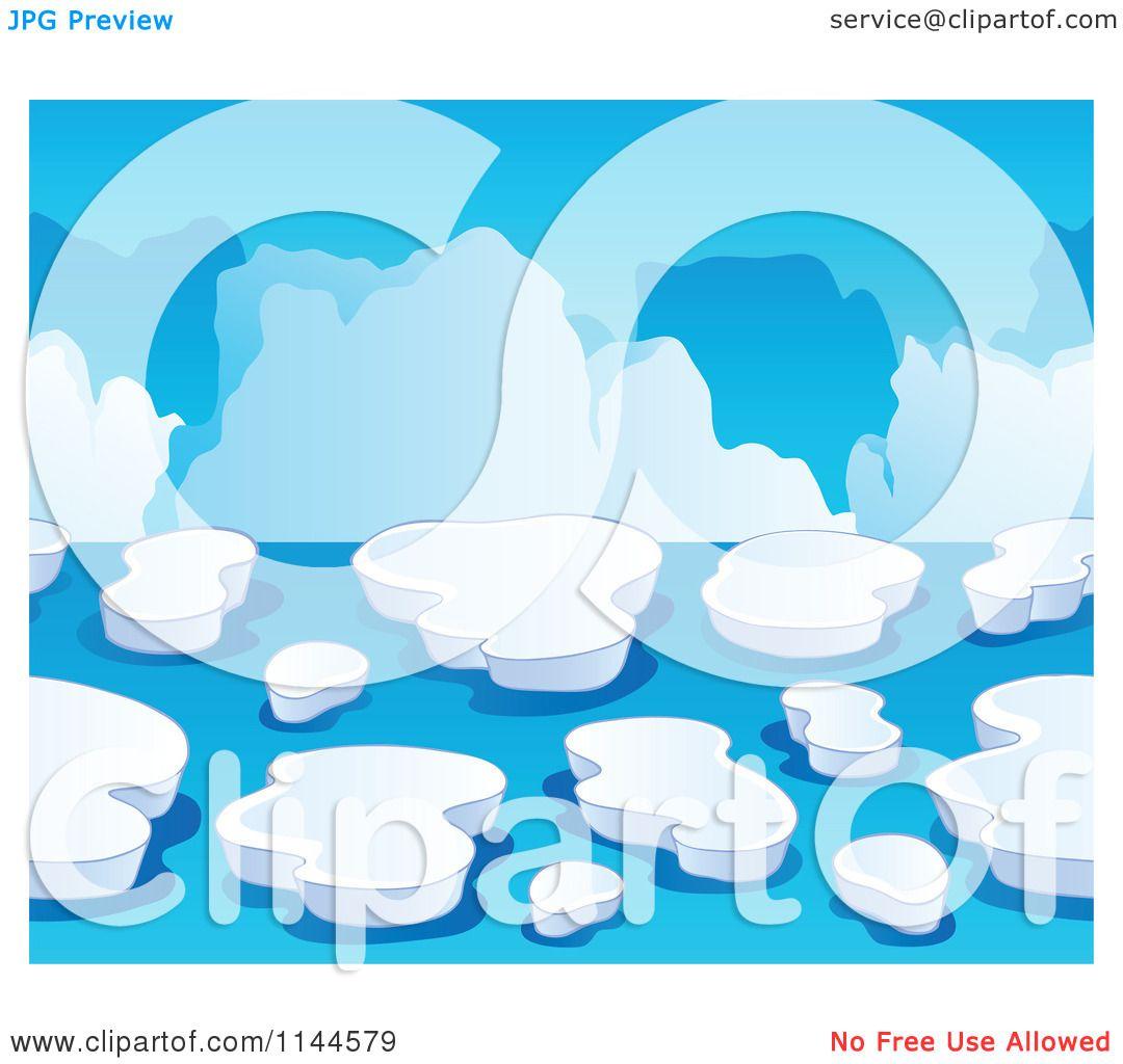 Cartoon of an iceberg background royalty free vector for Clipart iceberg