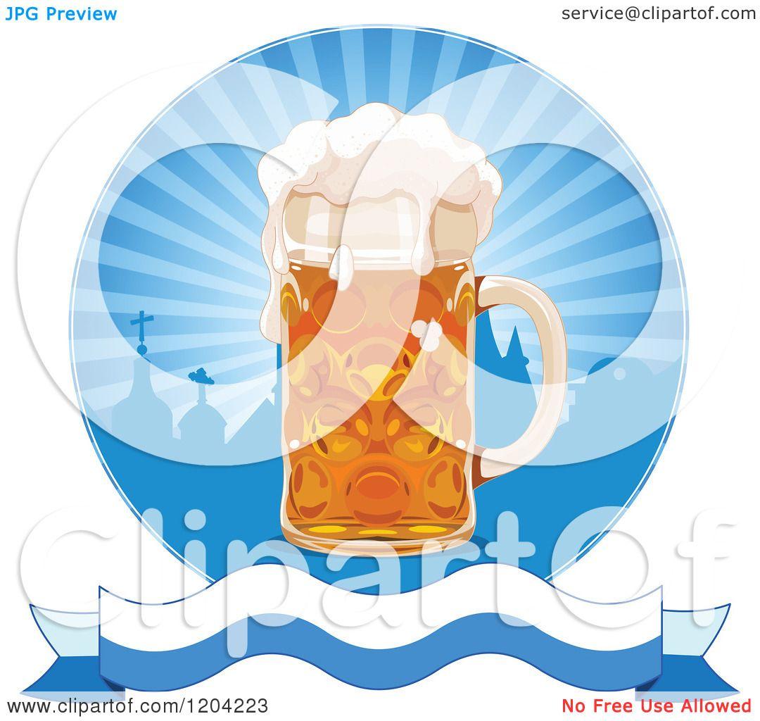 Oktoberfest Beer Clipart Cartoon of an oktoberfest beer