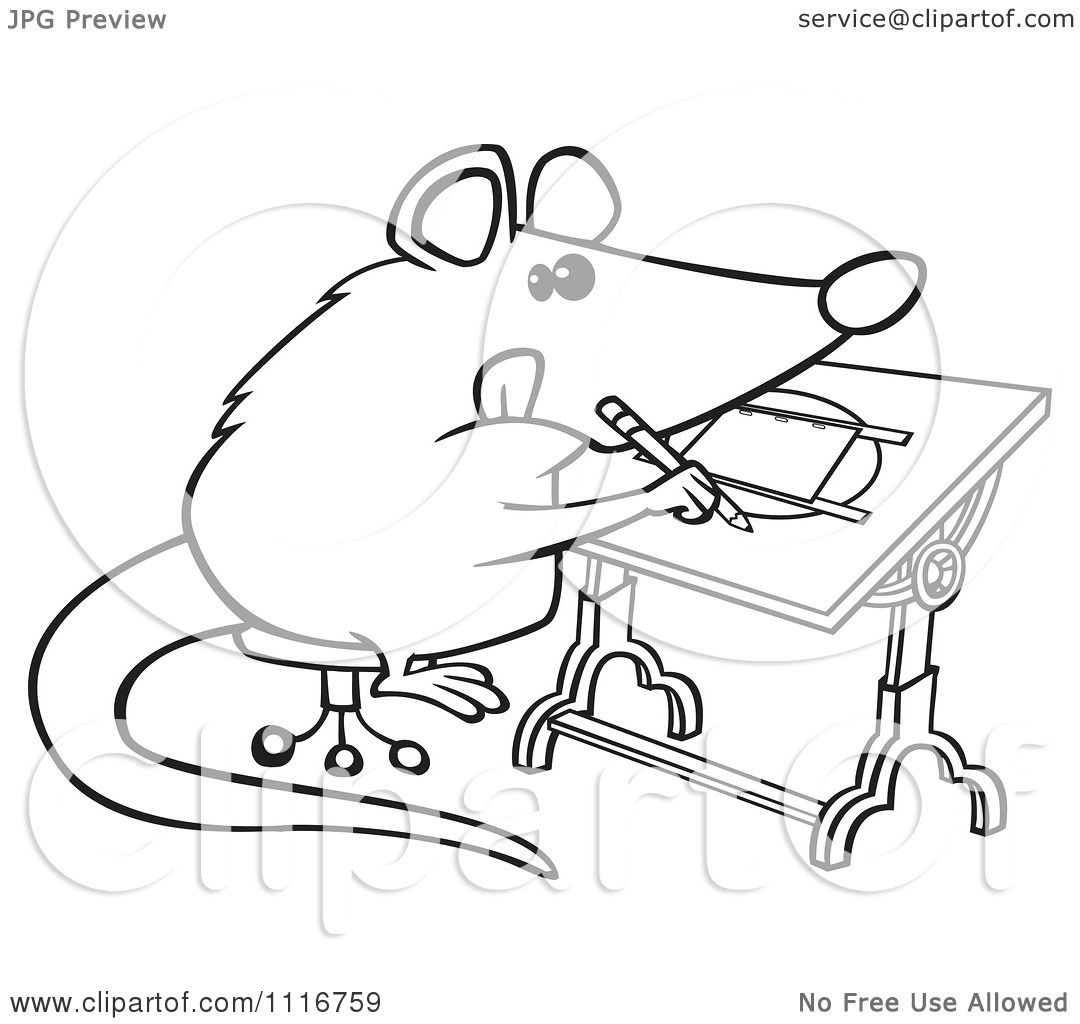 Uncategorized Possum Drawing cartoon of an outlined artist possum drawing royalty free vector clipart by toonaday