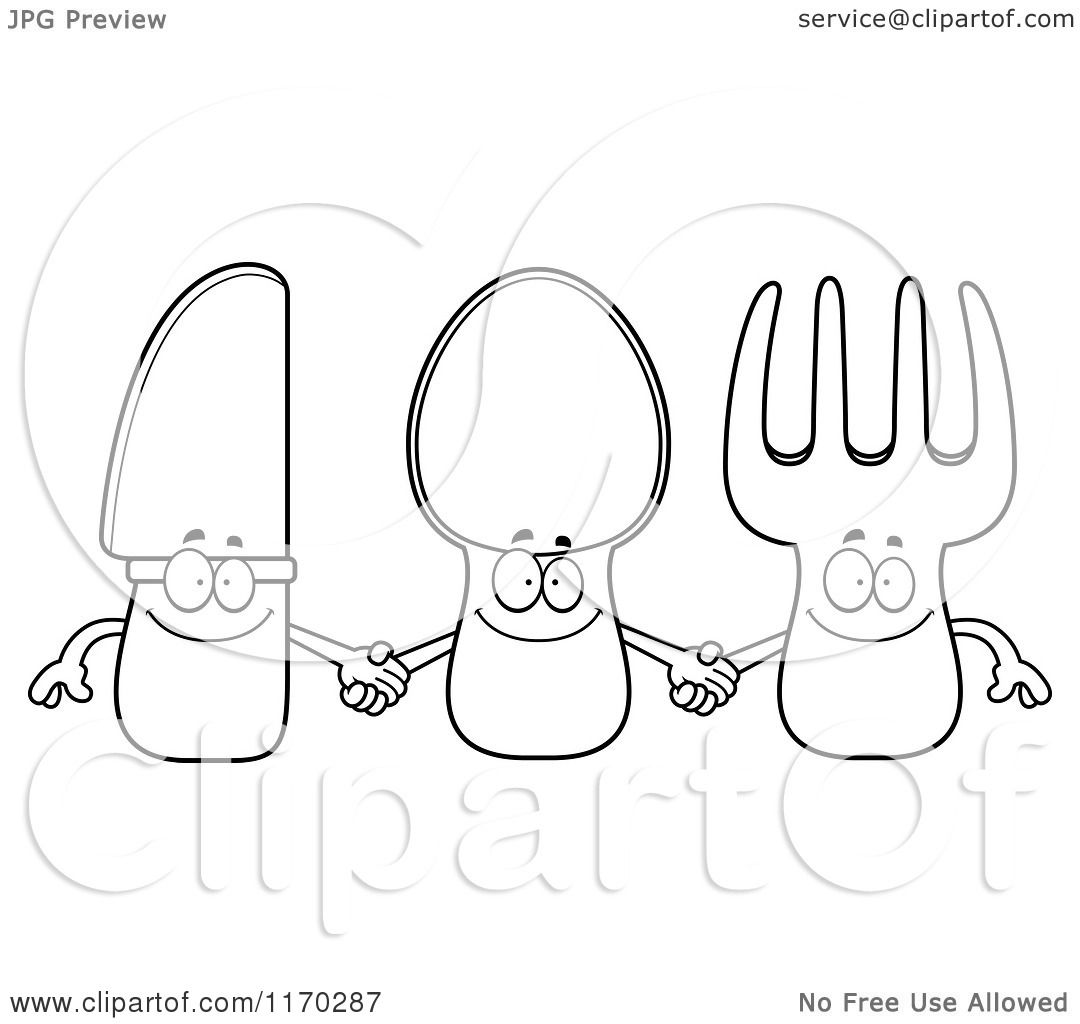 Hand Holding Fork Drawing And Fork Holding Hands