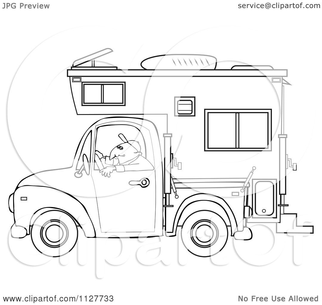 how to draw a camper