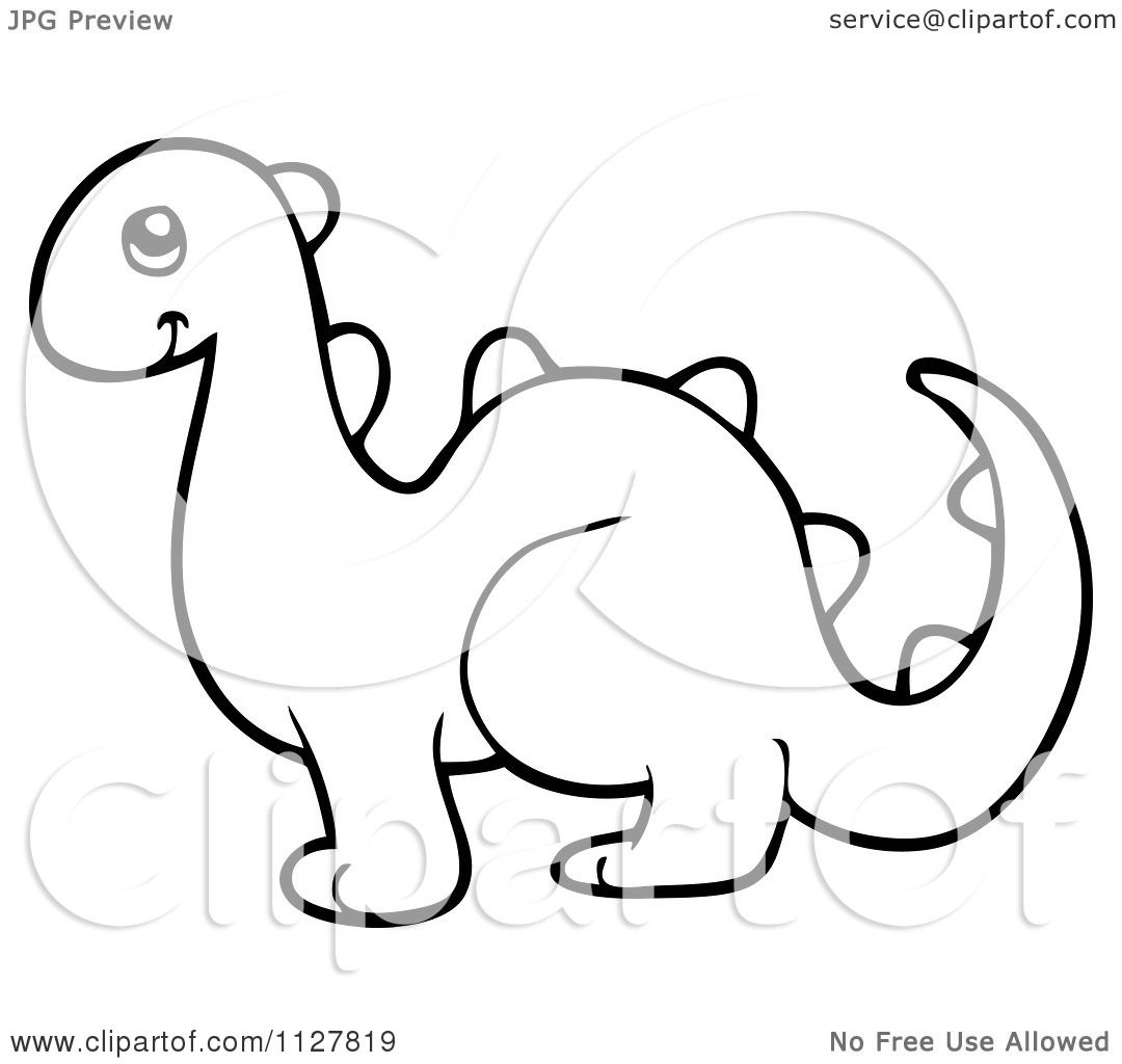 Dinosaur Outline Tattoo Wiring Diagrams M66t Melody Generator Cartoon Of An Outlined Toy Royalty Free Vector Cute Skeleton Little