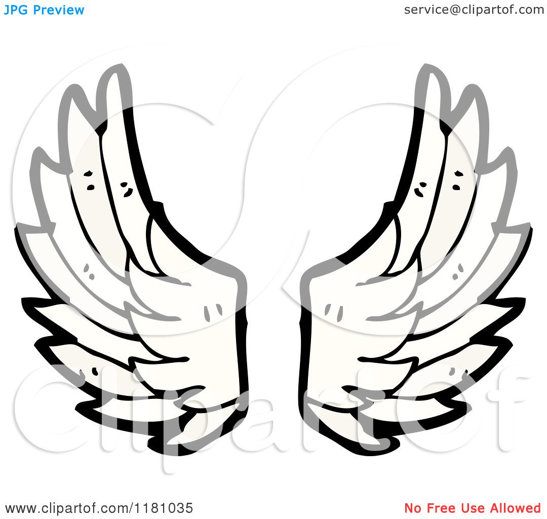 Cartoon Of Angel Wings Royalty Free Vector Illustration By Lineartestpilot 1181035