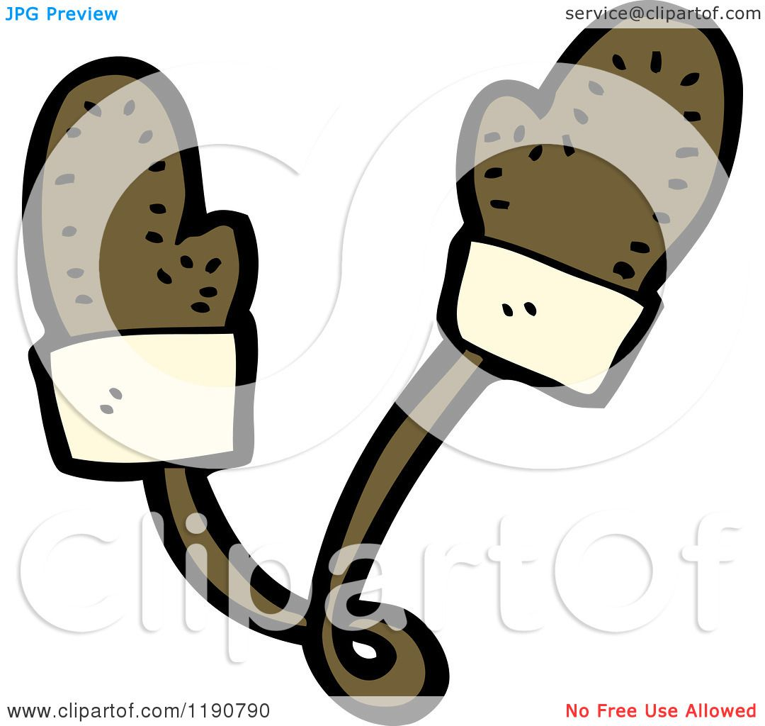 Cartoon of Children's Mittens on a String - Royalty Free Vector ...