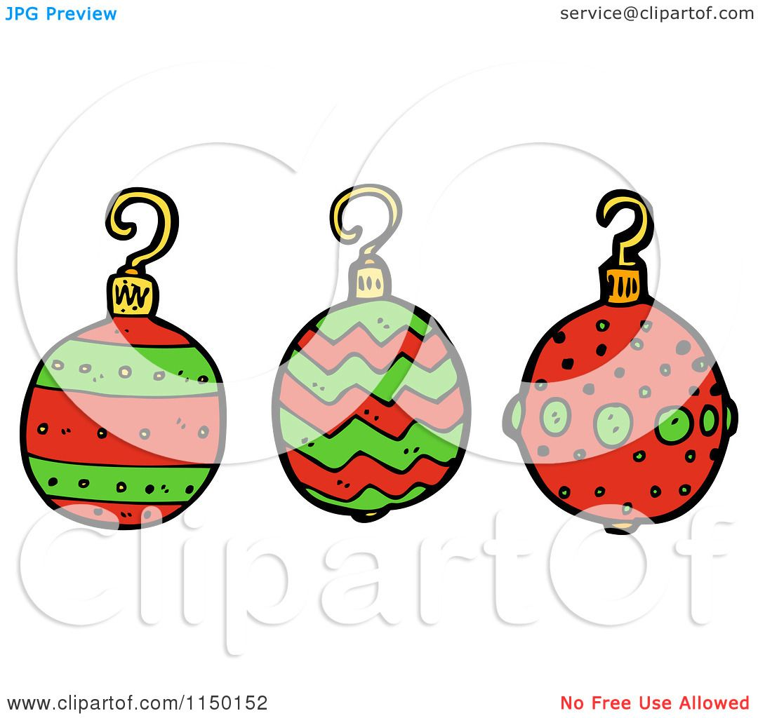 Cartoon of christmas bauble ornaments royalty free