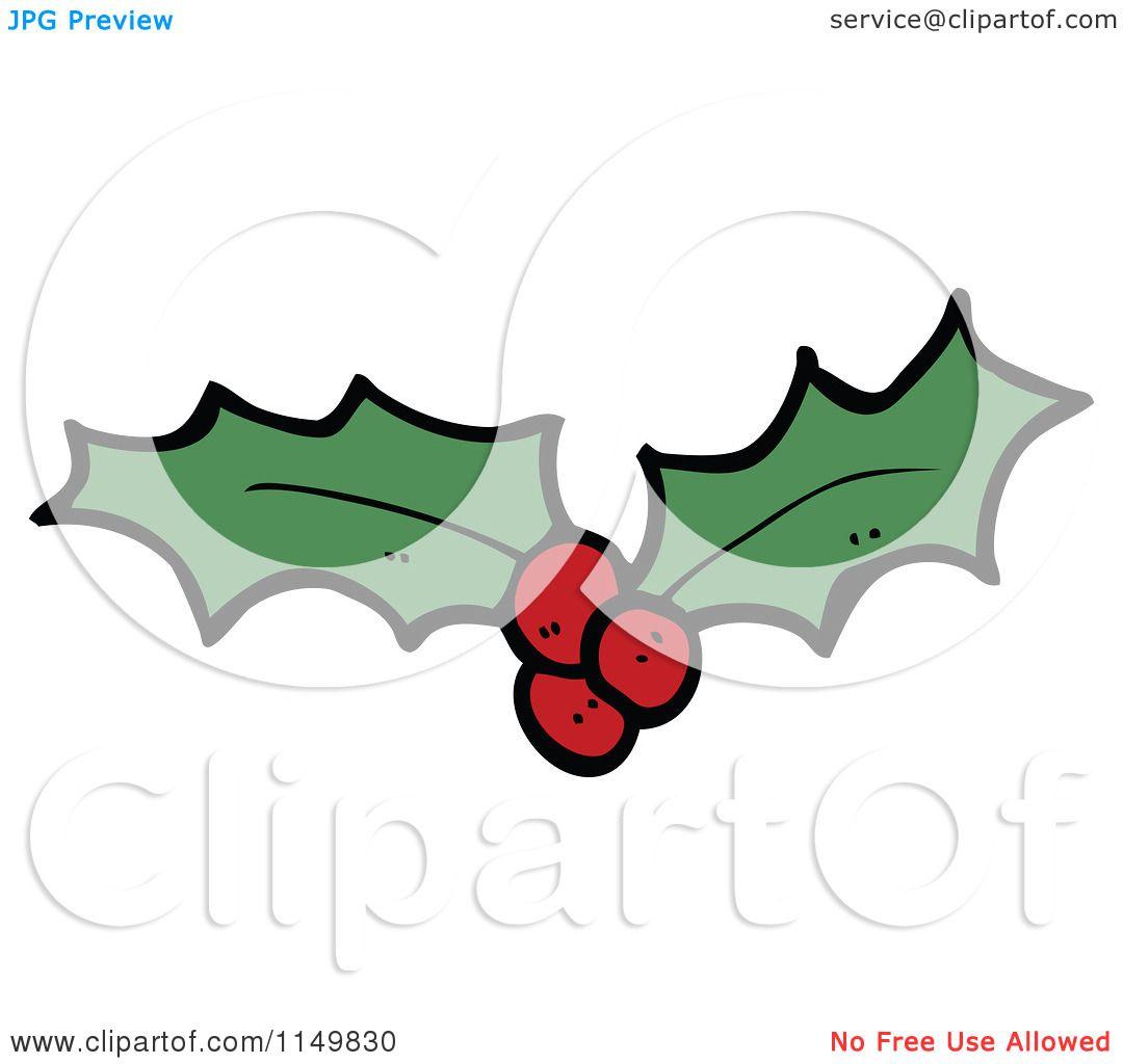 Christmas Holly Cartoon.Cartoon Of Christmas Holly Royalty Free Vector Clipart By