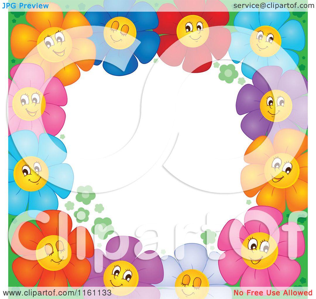 Cartoon of colorful daisy flower border around white copyspace cartoon of colorful daisy flower border around white copyspace royalty free vector clipart by visekart izmirmasajfo