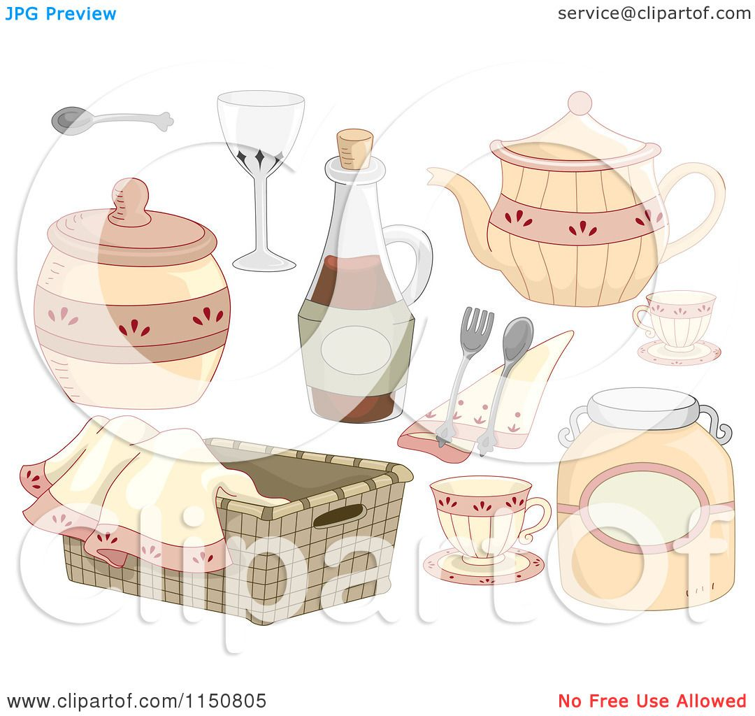 Cartoon Of Country Kitchen Design Elements Royalty Free Vector Clipart By Bnp Design Studio