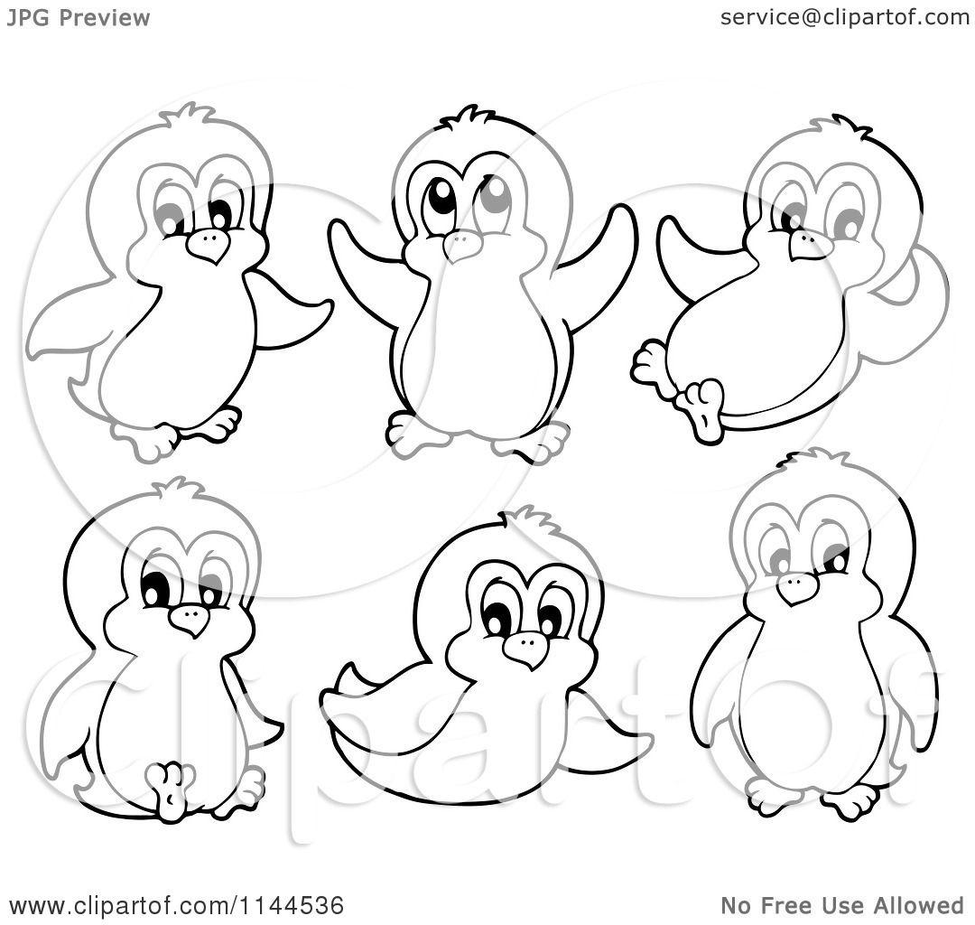 Cute Penguins Cartoon Cartoon of Cute Black And