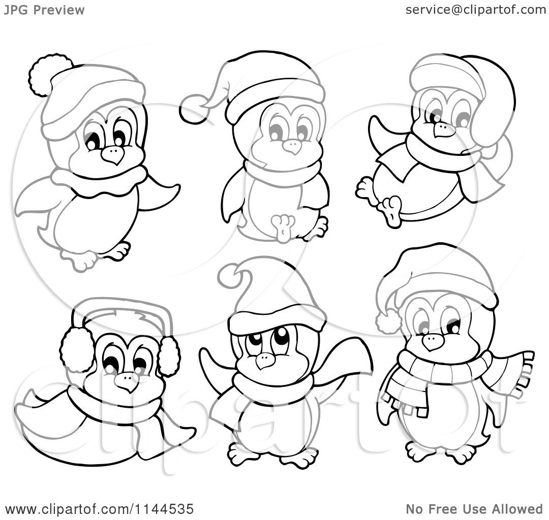 cute winter coloring pages - photo#28