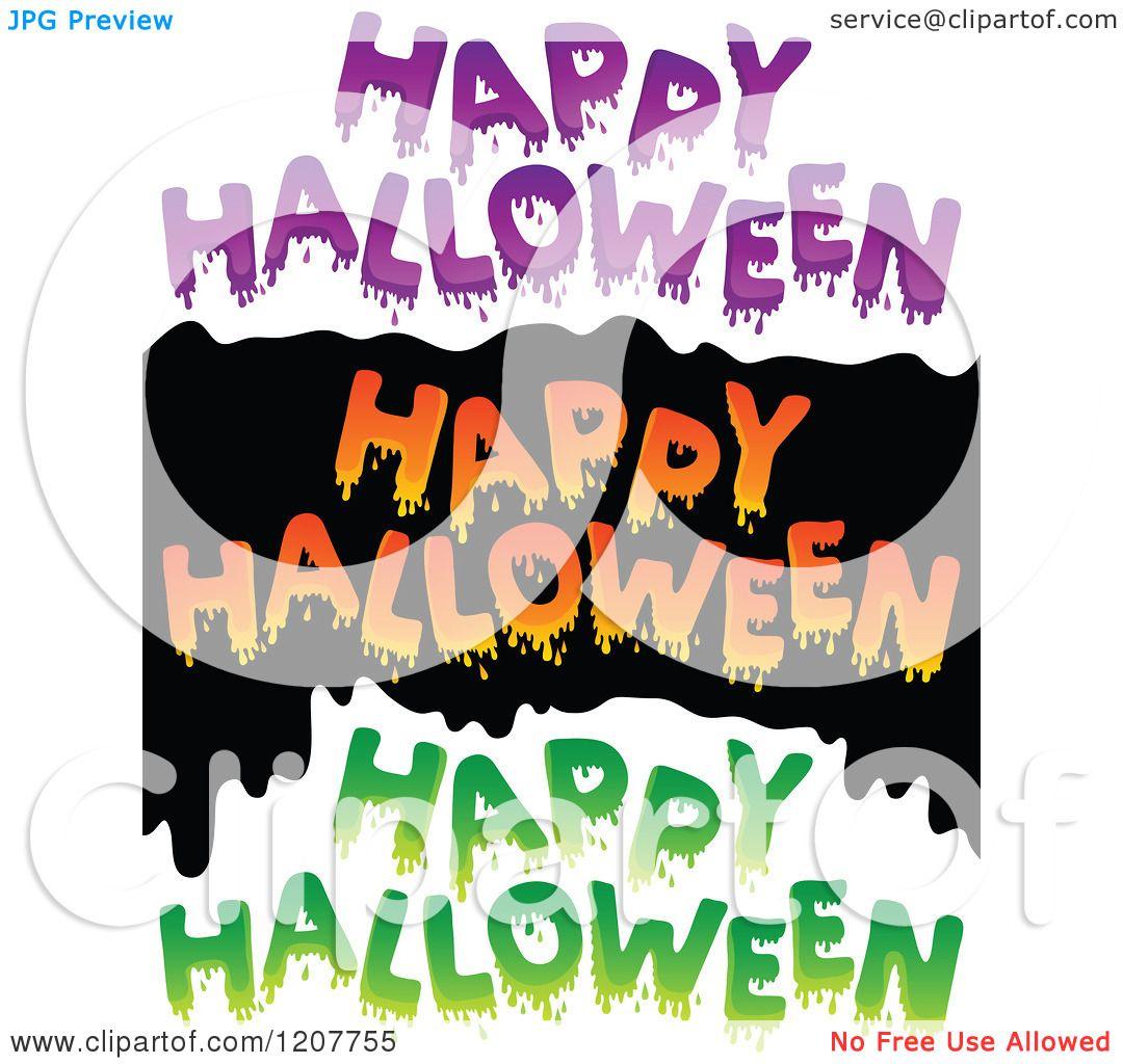Cartoon of dripping slimy happy halloween greetings royalty free cartoon of dripping slimy happy halloween greetings royalty free vector clipart by visekart m4hsunfo
