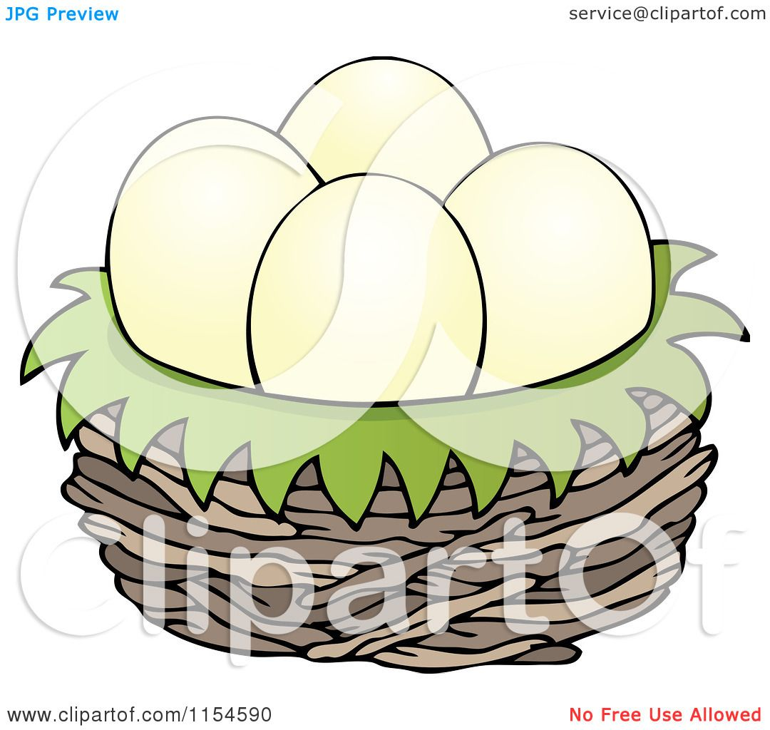 Cartoons Birds Images Cartoon of Eggs in a Bird Nest