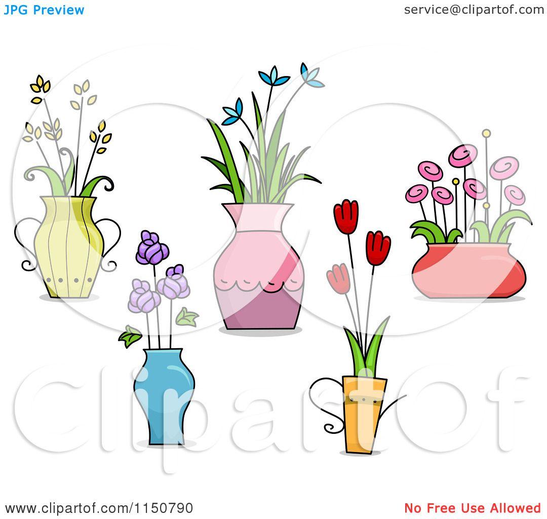 Cartoon Of Flower Pot And Vase Design Elements