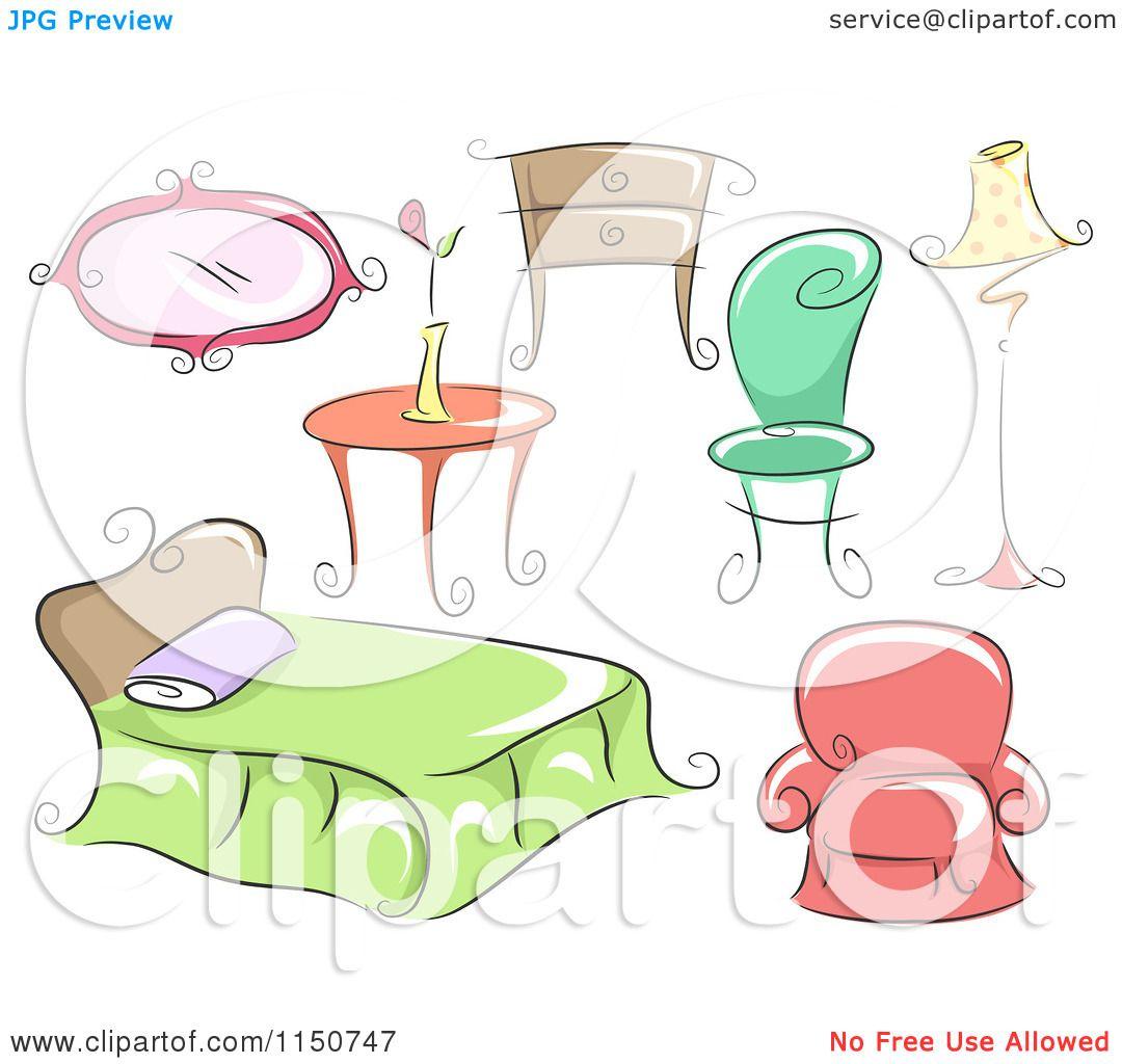 Cartoon Furniture: Cartoon Of Household Furniture