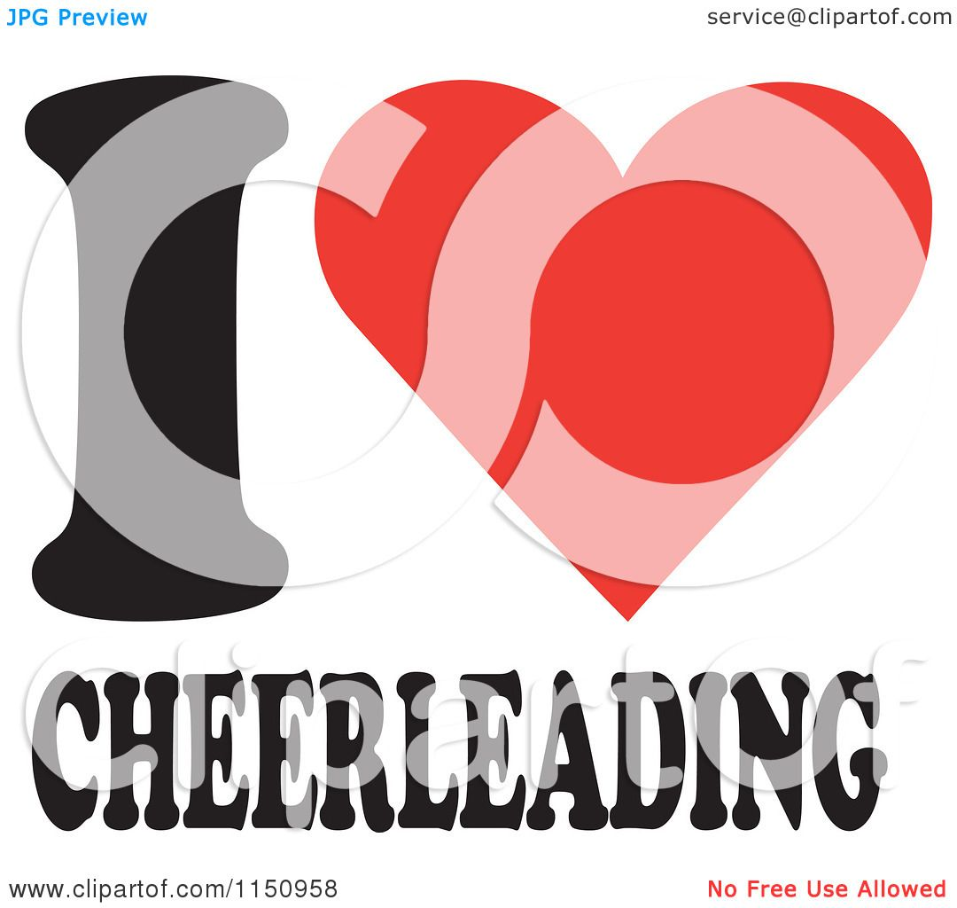 Cheerleading Logo Vector Of i heart cheerleading
