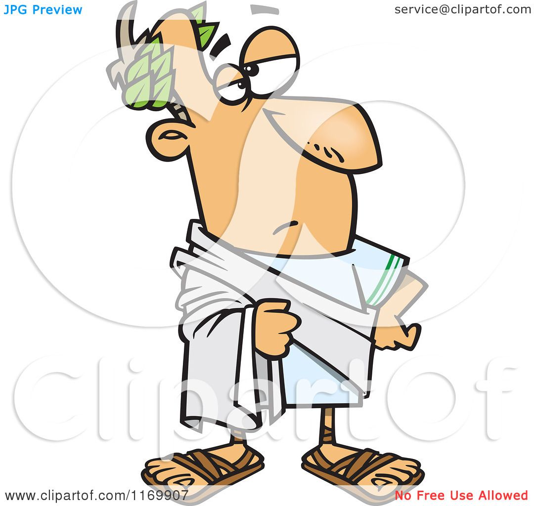 Cartoon of Julius Caesar Posing - Royalty Free Vector Clipart by Ron ...