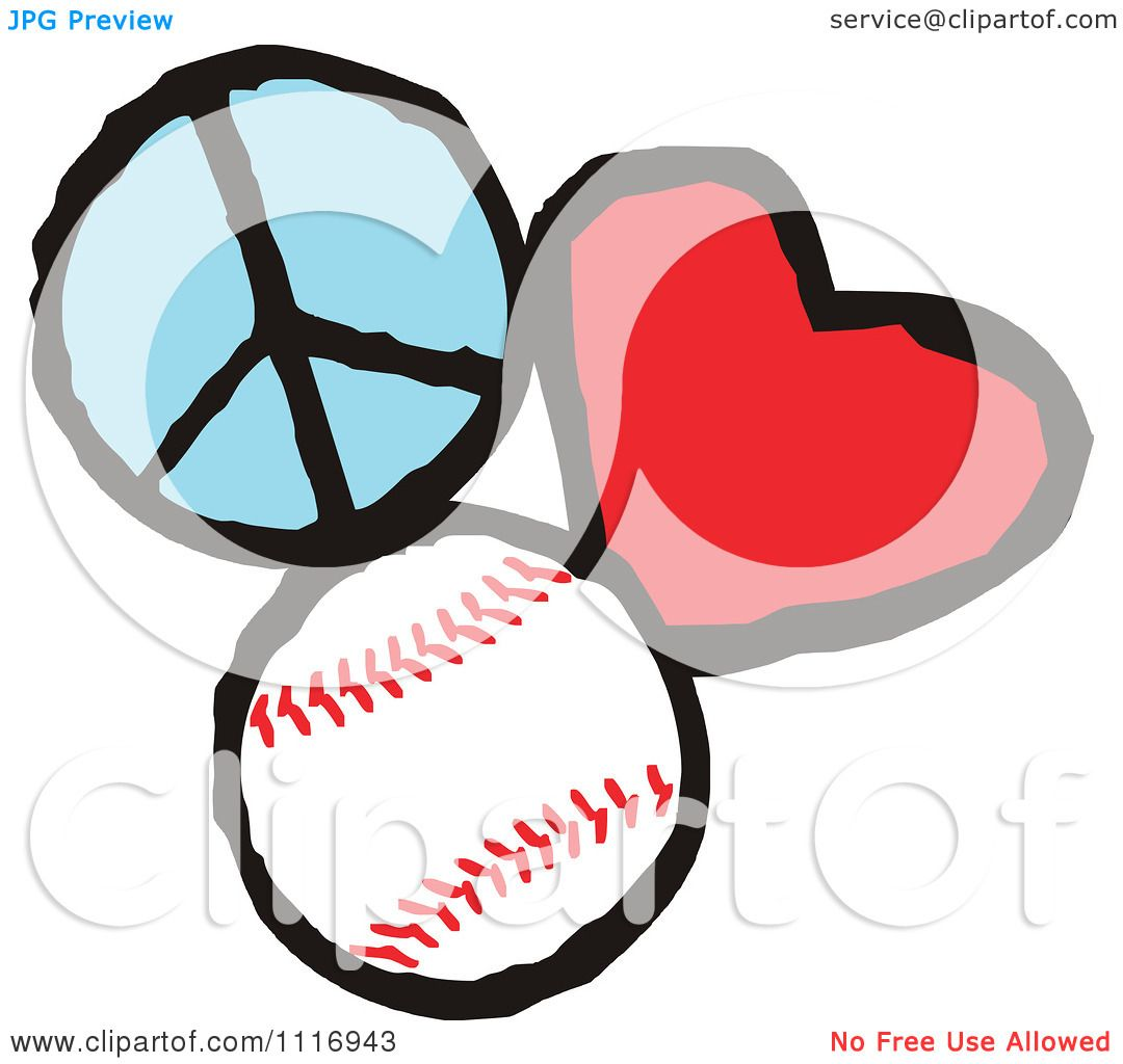 cartoon of peace love baseball graphics royalty free vector rh clipartof com baseball graphics free baseball graphics packages