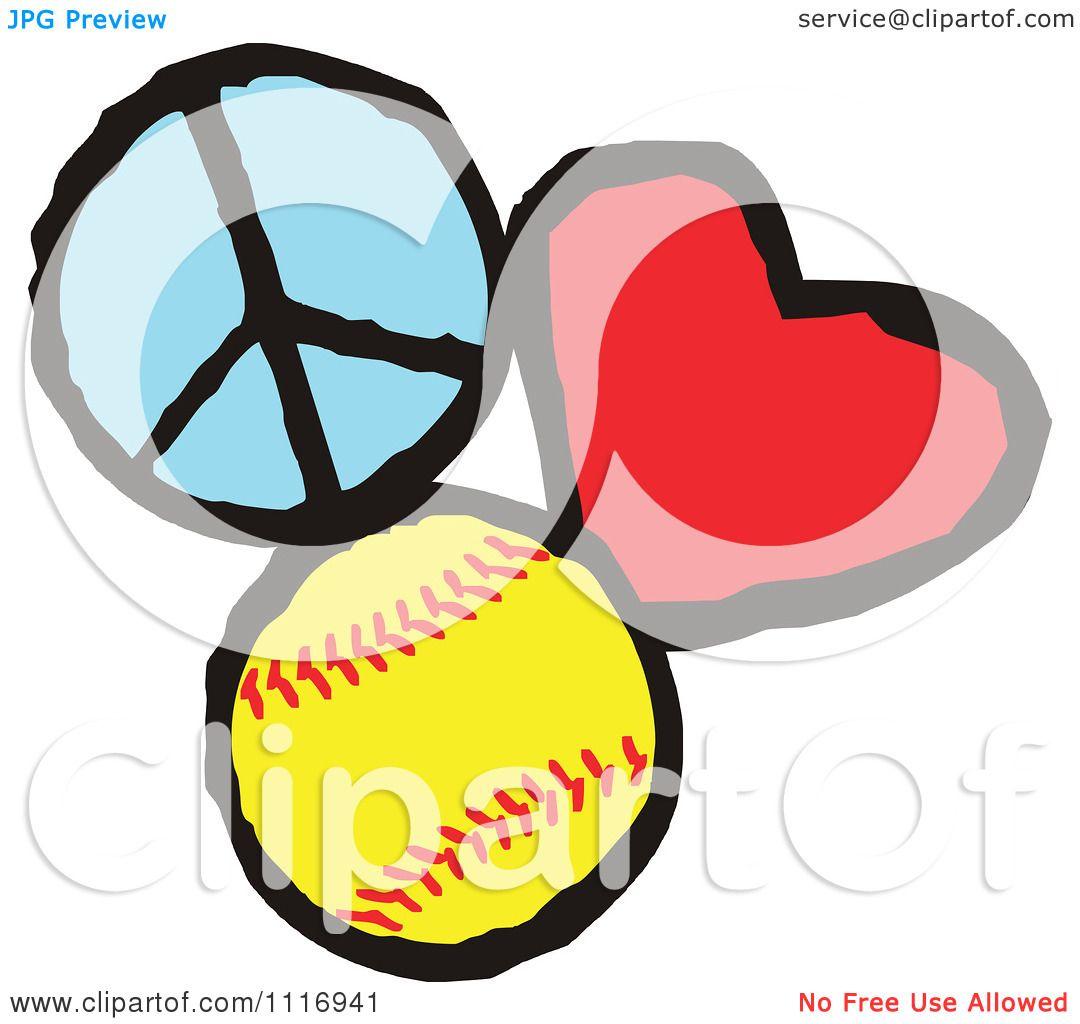 Peace Cartoon Drawings Cartoon of Peace Love Softball
