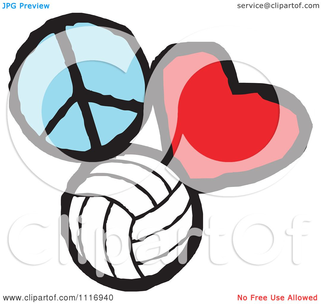 cartoon of peace love volleyball graphics royalty free vector rh clipartof com volleyball graphic tees volleyball graphics for t shirts