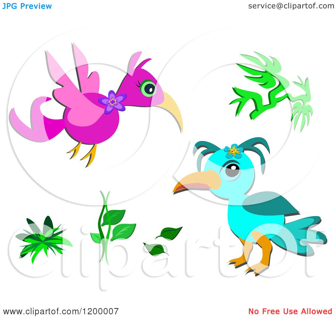 Cartoons Birds Pictures Cartoon of Pink And Blue Birds