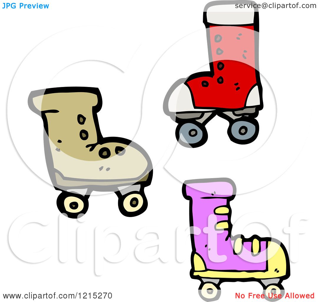 Roller skates for free - Cartoon Of Roller Skates Royalty Free Vector Illustration By Lineartestpilot