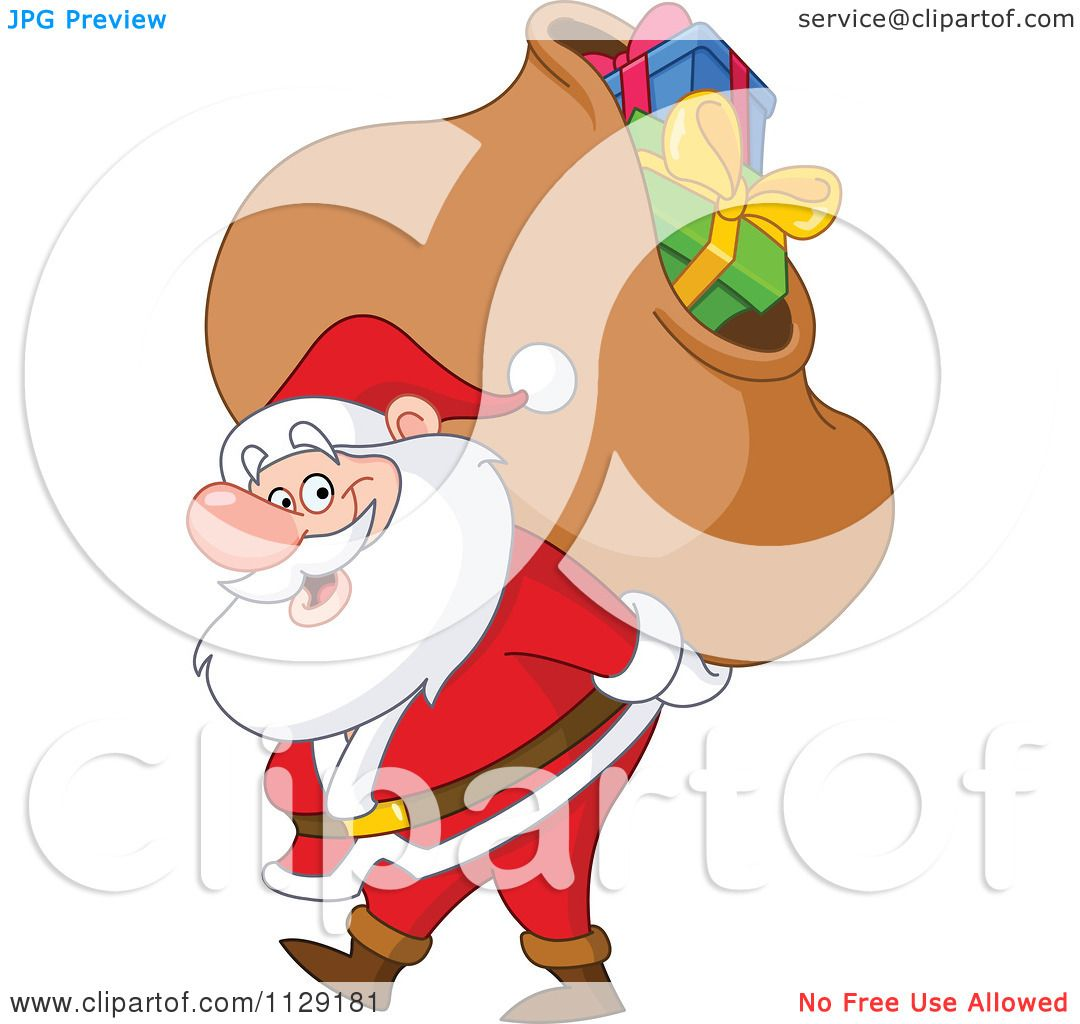 cartoon of santa carrying a heavy bag of christmas clip art frog black and white clip art frogs on log