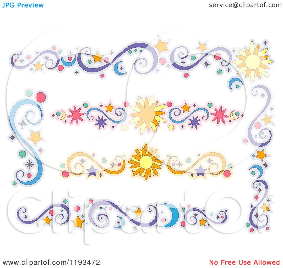 Cartoon of Sun Moon and Star Design Elements - Royalty ...