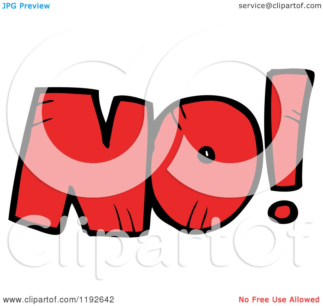 Cartoon of the Word No - Royalty Free Vector Illustration ...