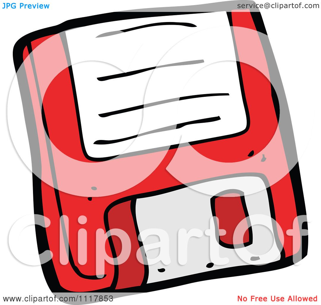 Cartoon Retro Red Computer Floppy Disk 1 - Royalty Free Vector ...
