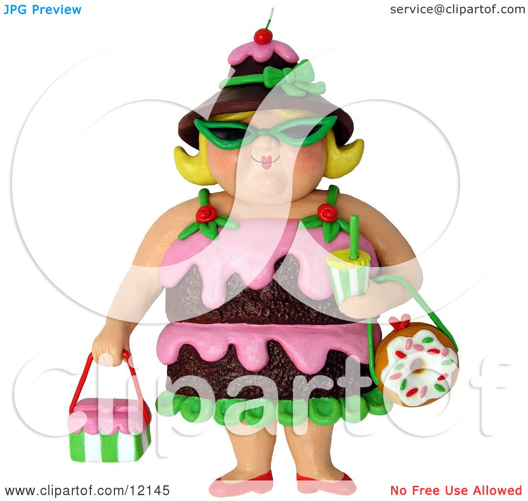 Cake Art By Amy Hours : Clay Sculpture Clipart 3d Chocolate Cake Woman Wearing ...