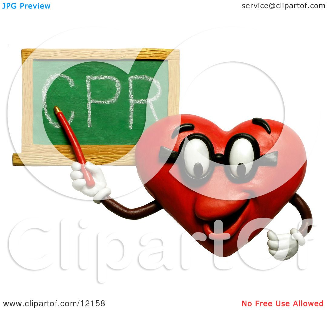 Clay Sculpture Clipart Heart Teacher Discussing CPR - Royalty Free ...