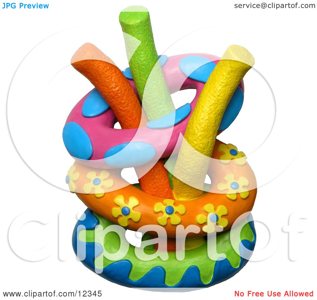 Clay Sculpture Clipart Inner Tubes With Swimming Pool ...