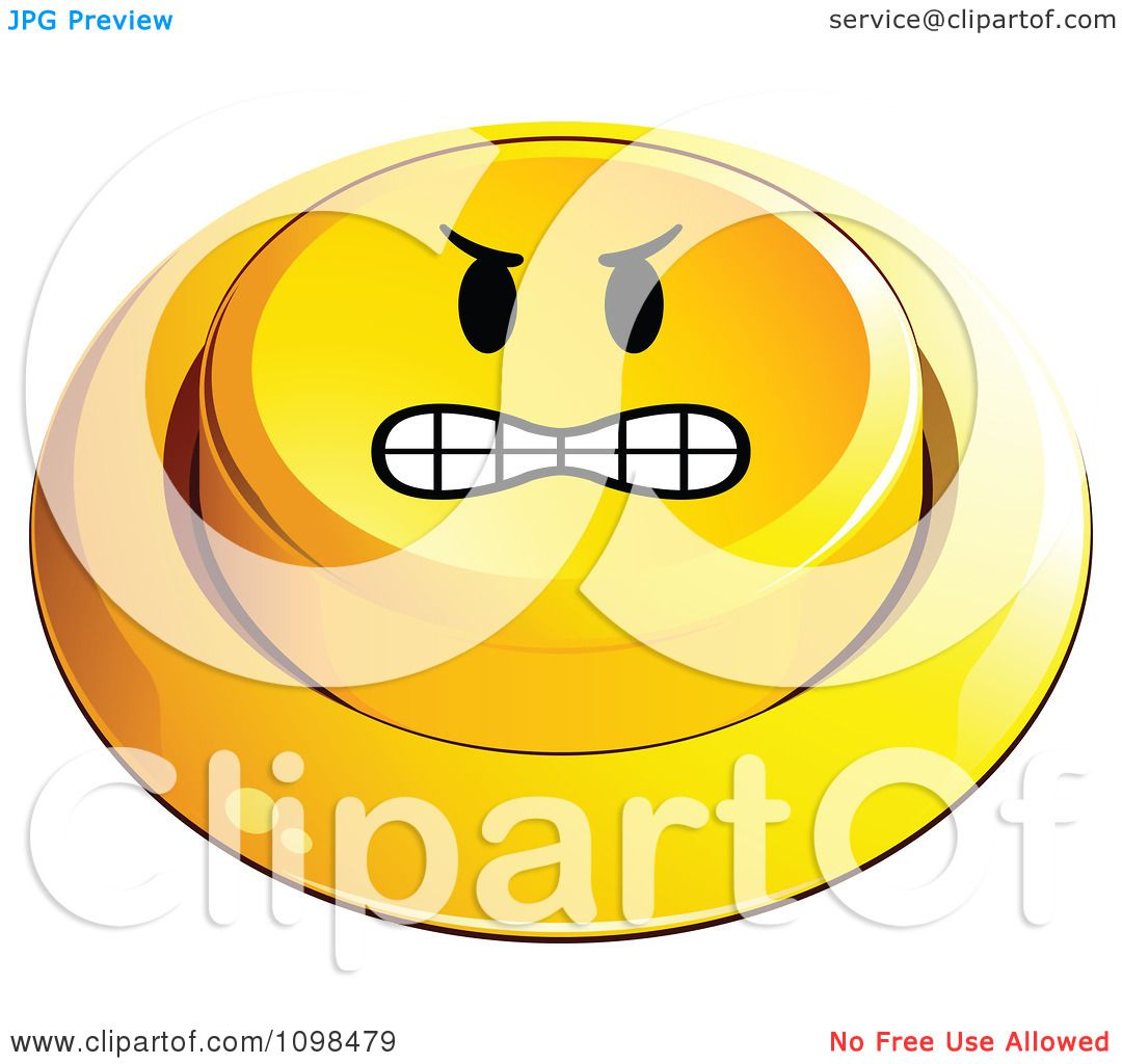 Angry Face Clipart Clipart 3d Angry Yellow Button