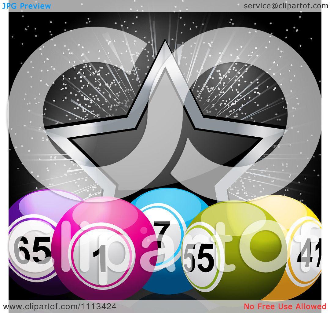 Solid Black Star Clipart 3d Bingo Balls And A