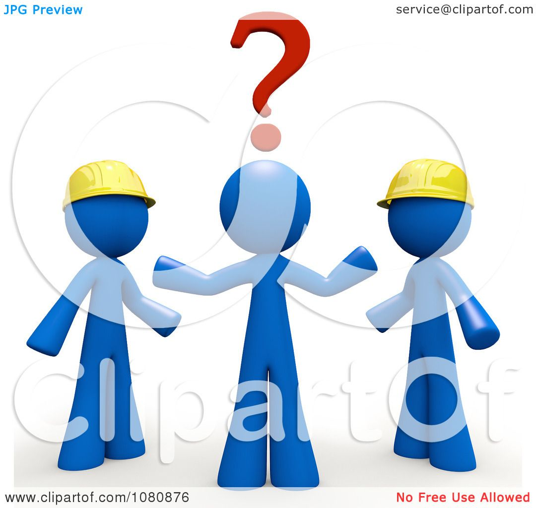 Deciding stock illustrations royalty free gograph - Clipart 3d Blue Man Trying To Decide Which Contractor To Use Royalty Free Cgi Illustration By Leo Blanchette