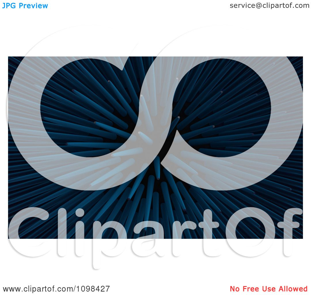 clipart 3d blue sea urchin spikes an example of a fibonnacci