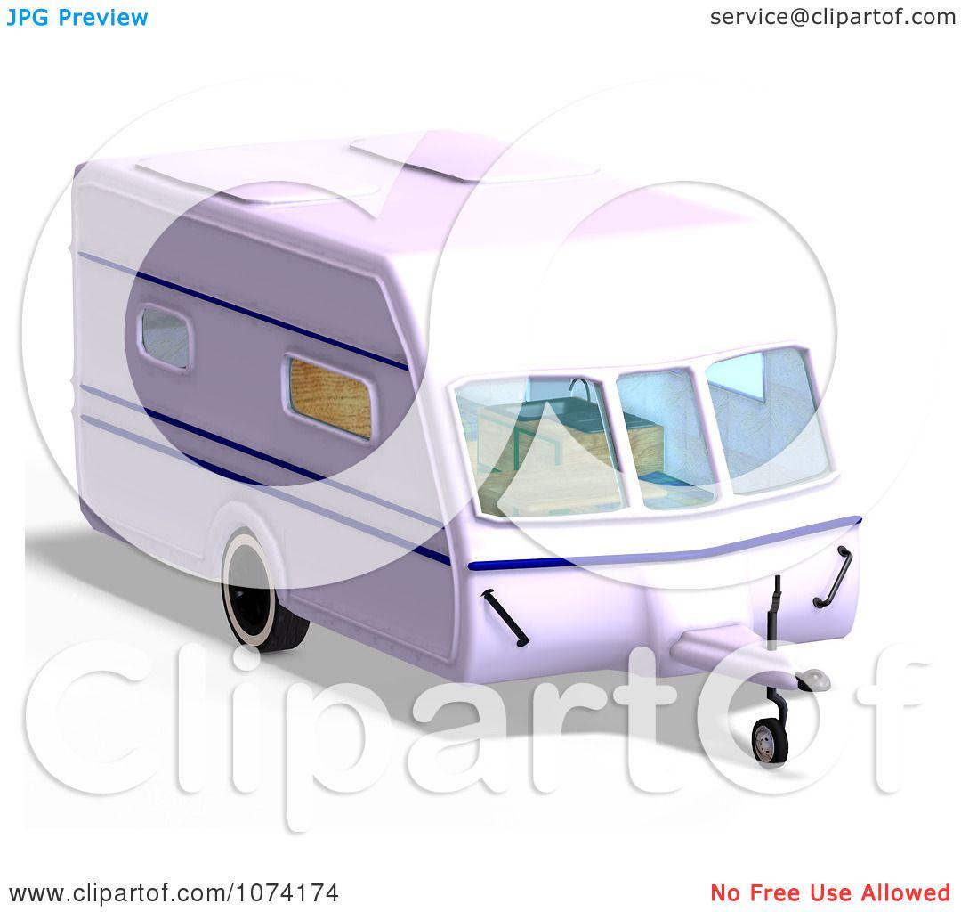 Clipart 3d Caravan Camper Travel Trailer - Royalty Free CGI ...