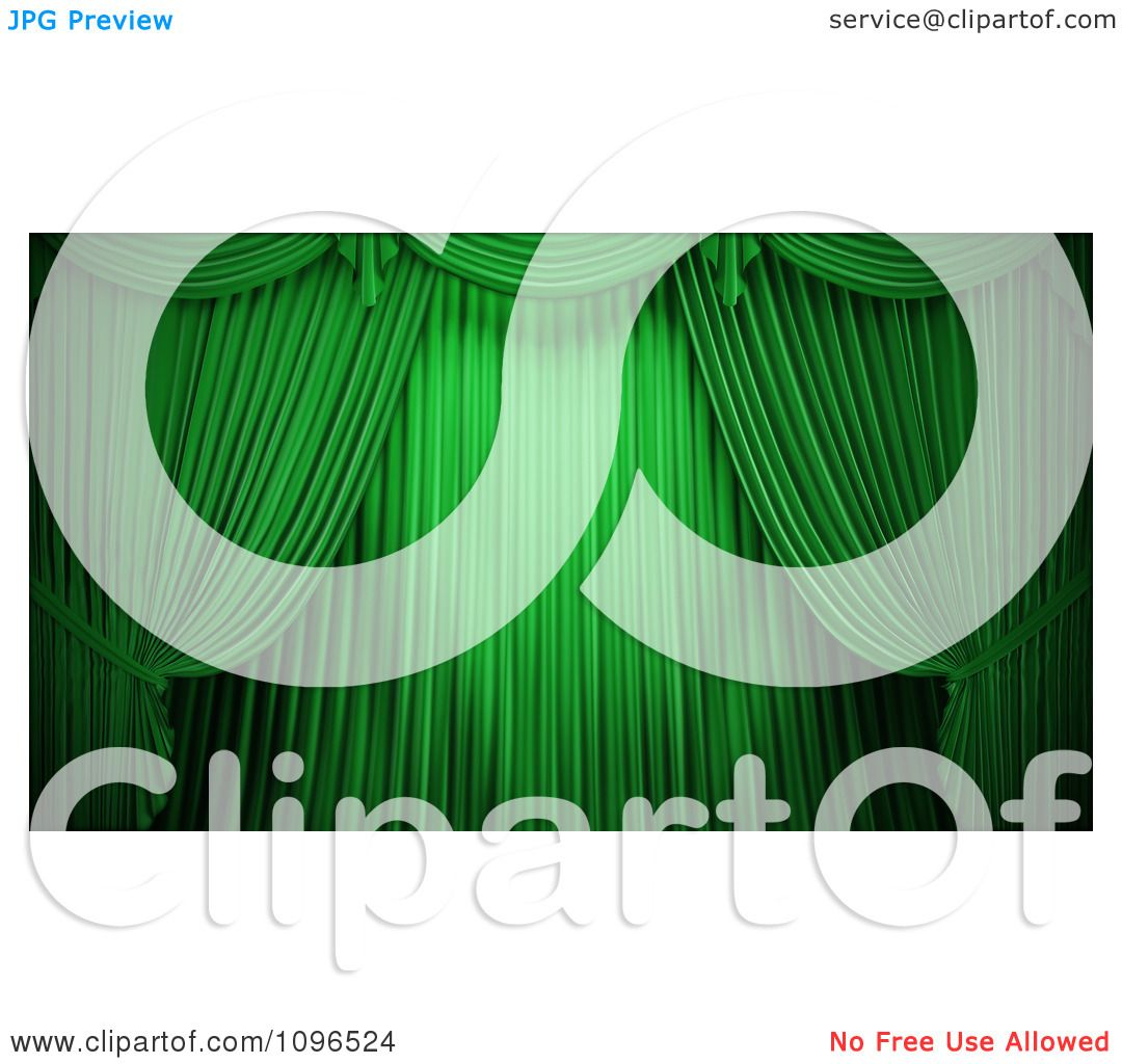 Free coloring pages of stage curtains - Clipart 3d Closed Green Theater Curtains Royalty Free Cgi Illustration By Mopic