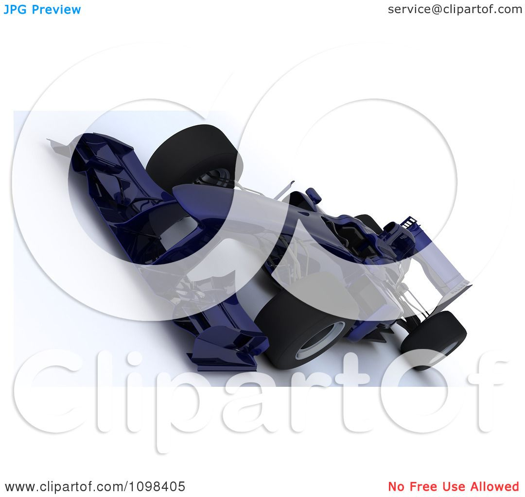 3d Dark Blue Formula One Race Car At A Tilted Angle - Royalty Free CGI ...