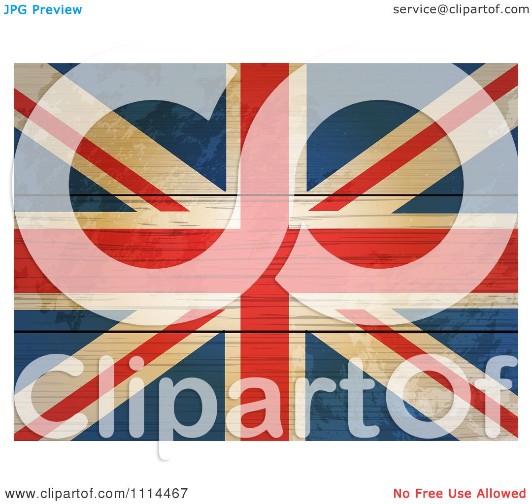 Clipart 3d Distressed Union Jack Flag On Wood Boards ...