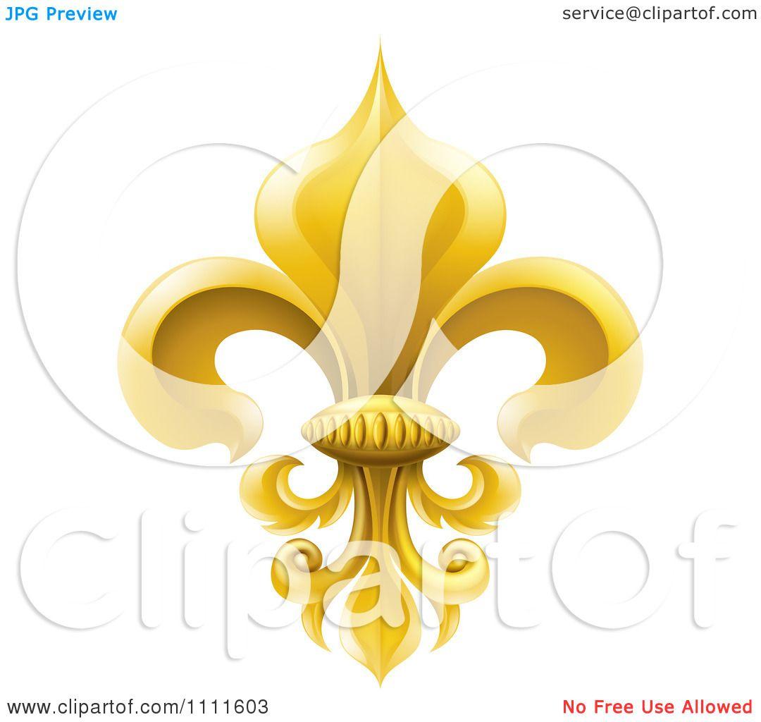 Clipart 3d Elegant Golden Fleur De Lis Lily Symbol Royalty Free