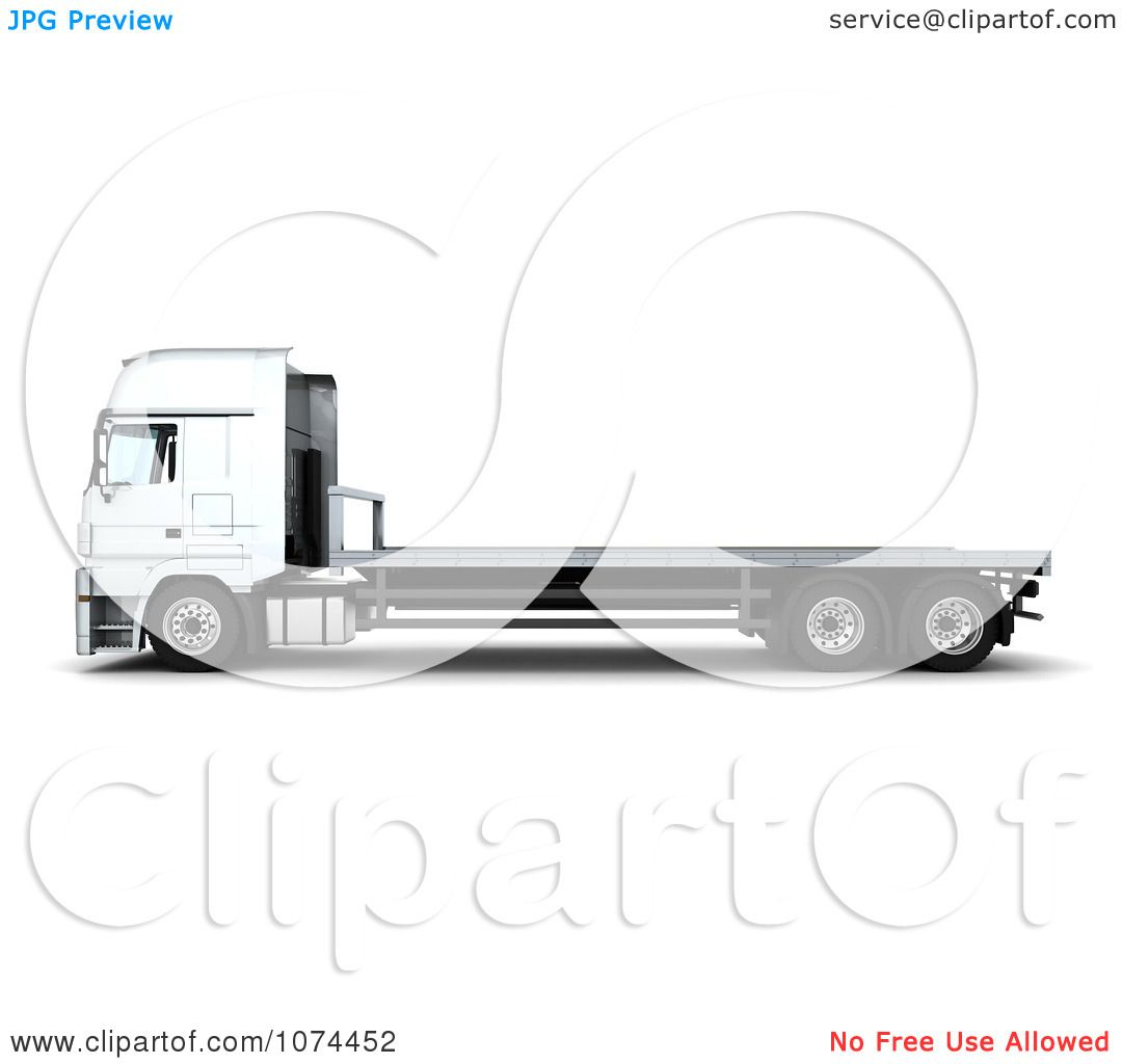 Semi Truck Flatbed Trailer Clipart Clipart 3d Flatbed Lorry Truck