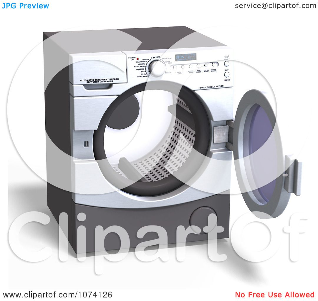 Front-Loading Washer Dryer Clip Art
