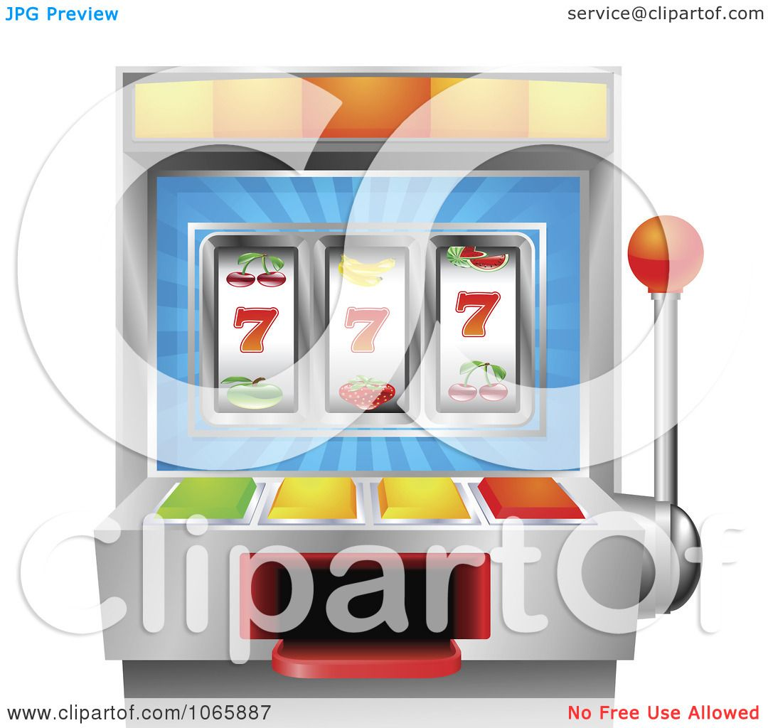 Clipart 3d fruit slot machine royalty free vector illustration by