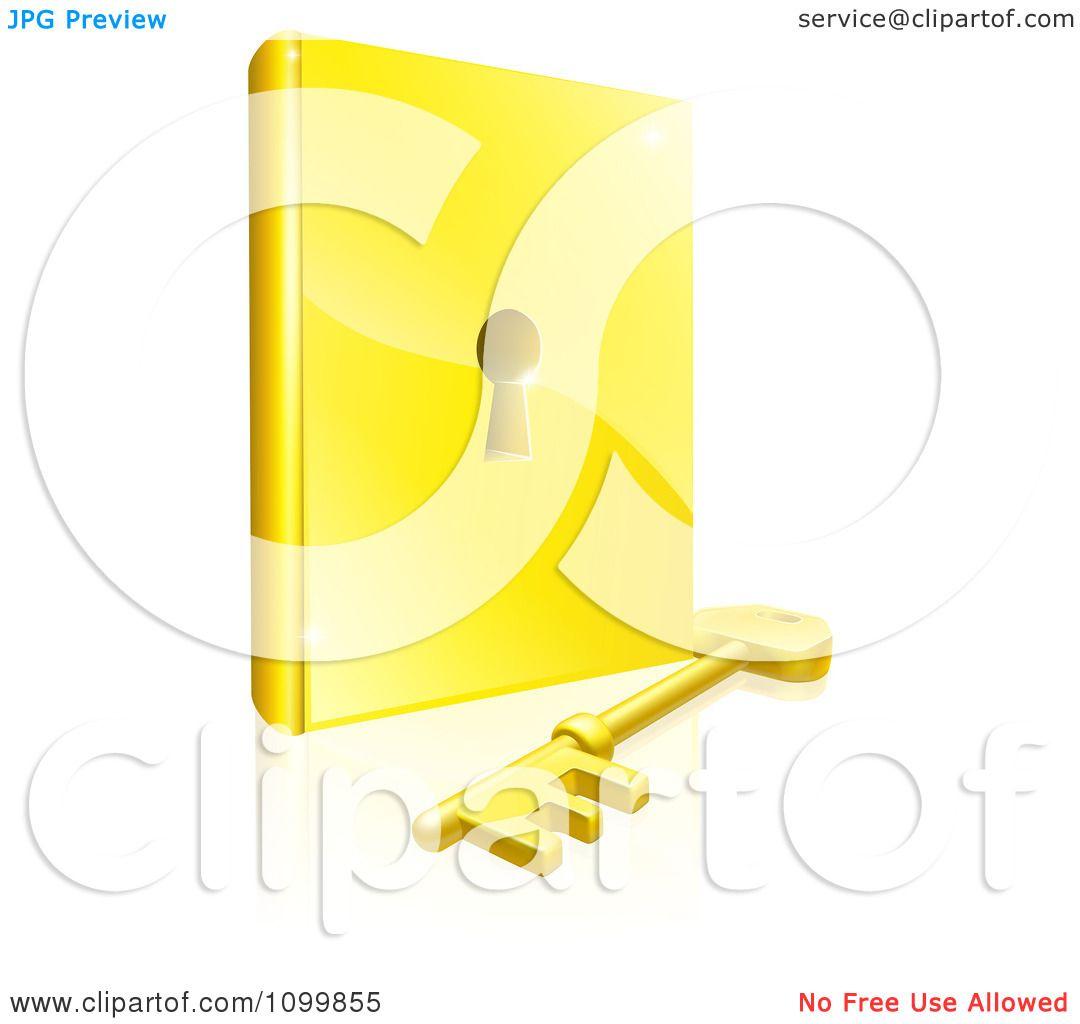 Clipart 3d Gold Skeleton Key