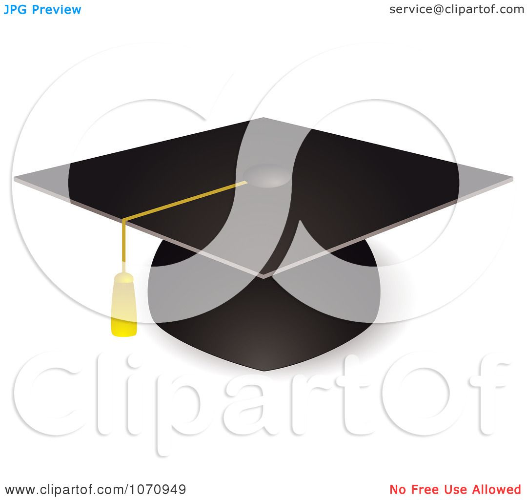 Clipart 3d Graduation Cap And Tassel - Royalty Free Vector ...