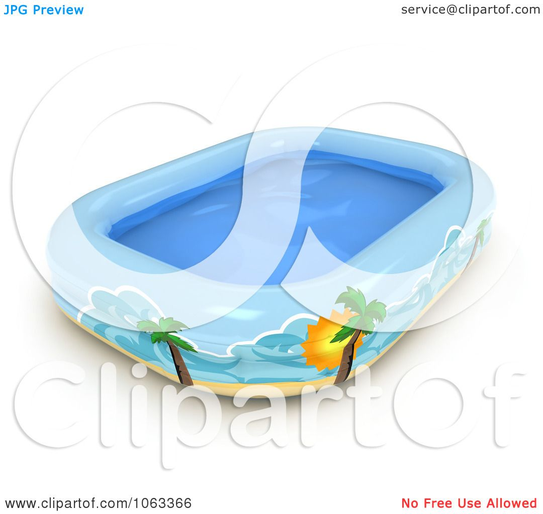Clipart 3d inflatable kiddie pool royalty free cgi for 3d pool design online free