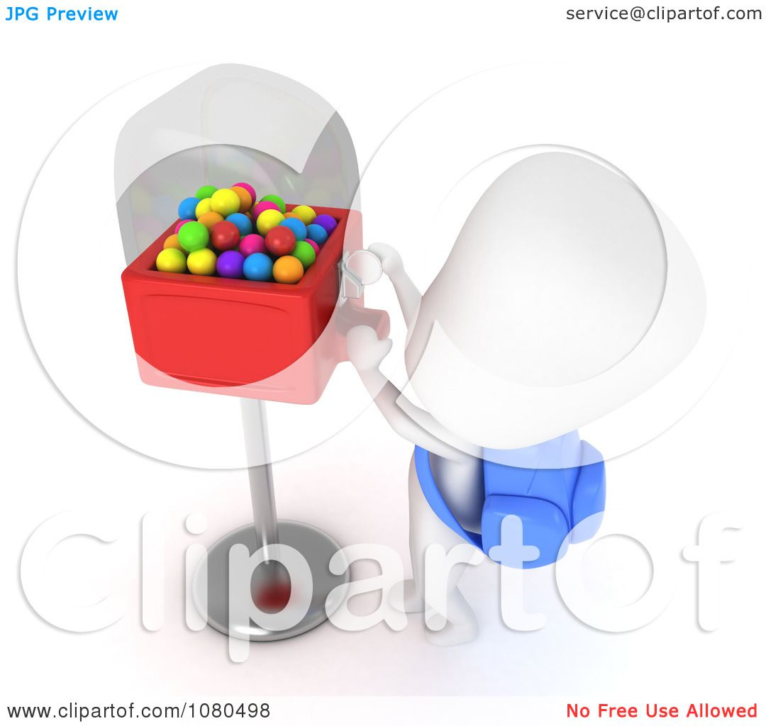 Free coloring page gumball machine - Clipart 3d Ivory School Boy At A Gumball Machine Royalty Free Cgi Illustration By Bnp Design Studio