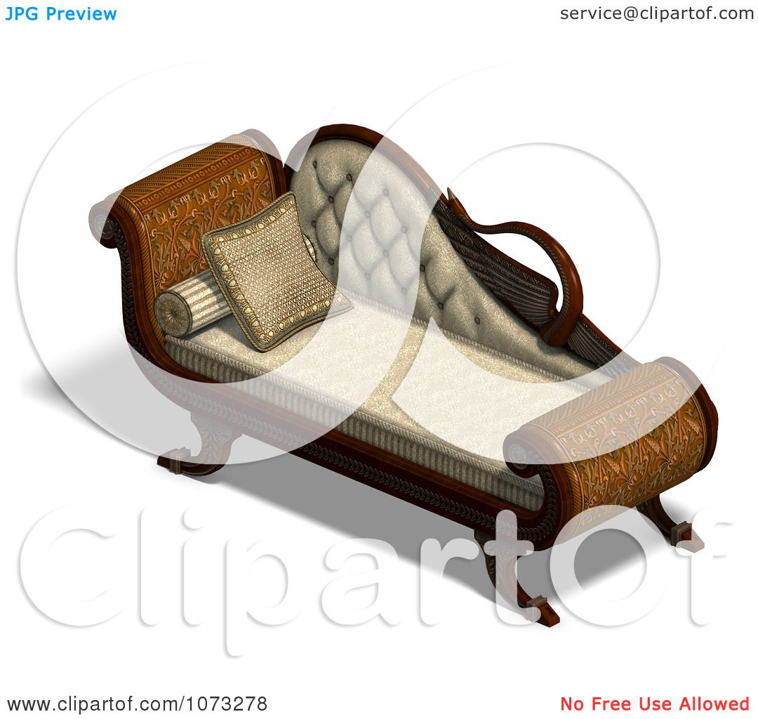 Clipart 3d Louis XV Swan Chaise Longue 4 - Royalty Free CGI Illustration by Ralf61  sc 1 st  Clipart Of : swan chaise - Sectionals, Sofas & Couches